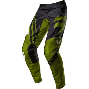 SHIFT ASSAULT RACE PANTS [BLACK/GREEN]