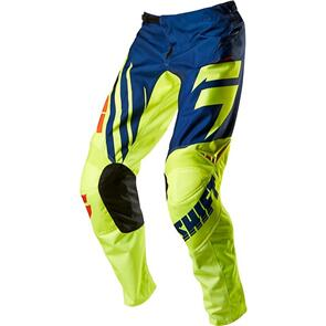 SHIFT ASSAULT RACE PANTS [NAVY/YELLOW]