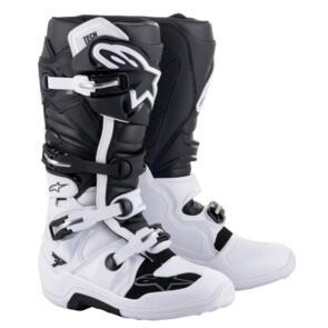ALPINESTARS 2021 TECH-7 MX BOOTS WHITE/BLACK