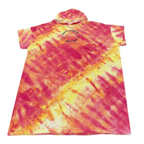 STICKY JOHNSON ADULTS/MENS HOODED TOWEL TIE DYE RED