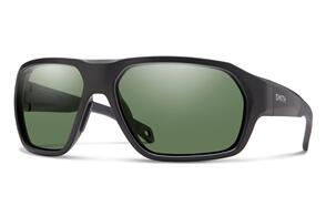 SMITH DECKBOSS MATTE BLACK CHROMAPOP POLARIZED GRAY GREEN