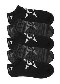 UNIT MENS SOCKS - NO SHOW - 5 PACK - VOID