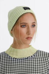 THING THING WOMENS SPECKLE BEANIE LIME