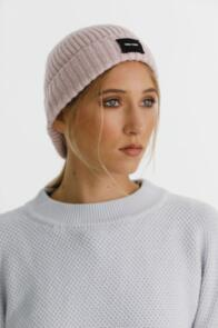 THING THING SPECKLE BEANIE DUSKY PINK