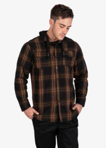 UNIT SHIRT - FLANNEL (HOOD)  - CHESTER ORANGE