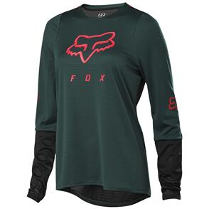 FOX RACING 2021 WOMENS DEFEND LS JERSEY [DARK GREEN]