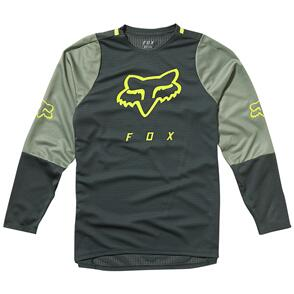 FOX RACING FOX YOUTH DEFEND LS JERSEY [EMERALD]