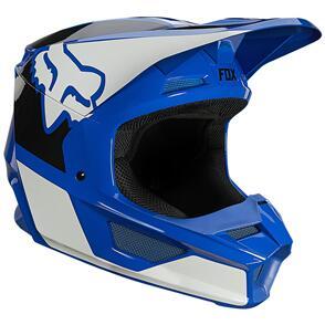 FOX RACING 2021 YOUTH V1 REVN HELMET ECE [BLUE]