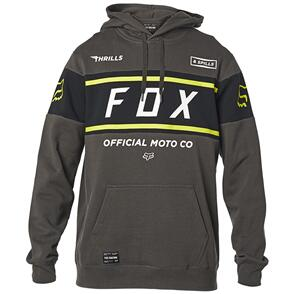 FOX RACING FOX OFFICIAL PULLOVER FLEECE HOODY [SMOKE]