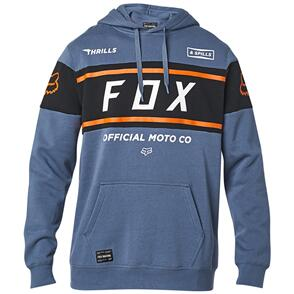 FOX RACING FOX OFFICIAL PULLOVER FLEECE HOODY [BLUE STEEL]