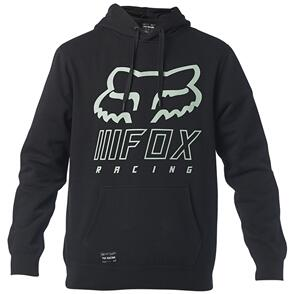 FOX RACING FOX OVERHAUL PULLOVER FLEECE HOODY [BLACK/GREEN]