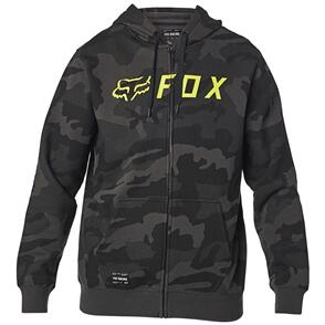 FOX RACING FOX APEX CAMO ZIP FLEECE HOODY [BLACK CAMO]