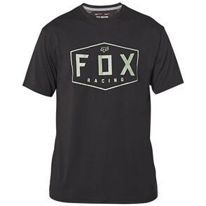 FOX RACING FOX CREST SS TECH TEE [BLACK/GREEN]