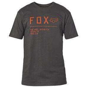 FOX RACING FOX NON STOP SS PREMIUM TEE [BLACK/ORANGE]