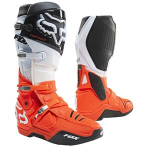 FOX RACING 2021 INSTINCT BOOTS [BLACK/WHITE/ORANGE]