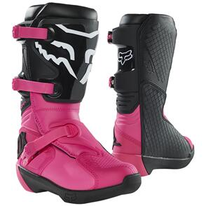 FOX RACING 2021 YOUTH COMP BOOTS [BLACK/PINK]