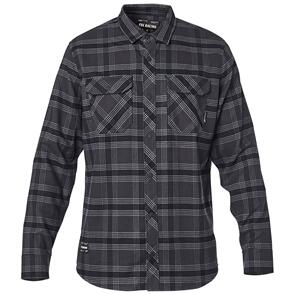 FOX RACING FOX FUSION TECH FLANNEL LS SHIRT [BLACK VINTAGE]