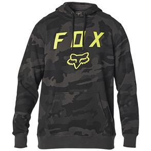 FOX RACING FOX LEGACY MOTH CAMO PULLOVER FLEECE HOODY [BLACK CAMO]