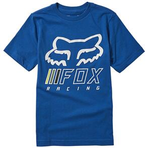 FOX RACING FOX YOUTH OVERHAUL SS TEE [LIGHT HEATHER GREY]