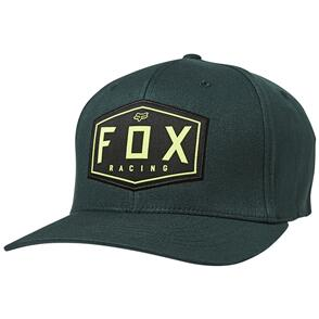 FOX RACING FOX CREST FLEXFIT HAT [EMERALD]