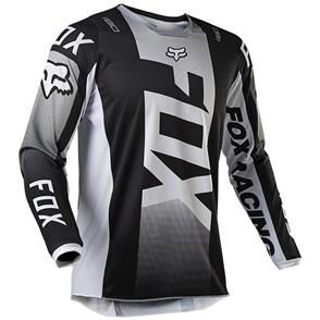 FOX RACING 2021 180 OKTIV JERSEY [BLACK/WHITE]