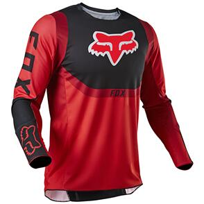 FOX RACING 2021 YOUTH 360 VOKE JERSEY [FLO RED]