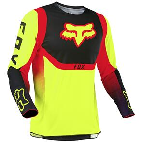 FOX RACING 2021 YOUTH 360 VOKE JERSEY [FLO YELLOW]