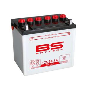 BS BATTERY BS DRY BATTERY 12N24-4A WITH ACID (FA) (12N24-4A) 4/CTN