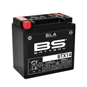 BS BATTERY BS SLA MAX BATTERY BTX14HL (FA) (YTX14HL) 4/CTN