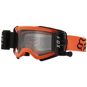 FOX RACING 2021 AIRSPACE STRAY ROLL OFF GOGGLES [FLO ORANGE]