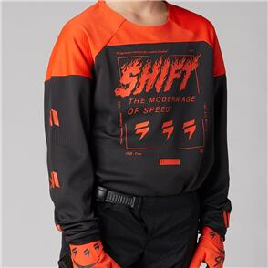 SHIFT 2021 YOUTH WHITE LABEL FLAME JERSEY [BLOOD ORANGE]