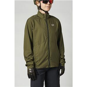 FOX RACING 2021 WOMENS RANGER WIND JACKET [OLIVE GREEN]