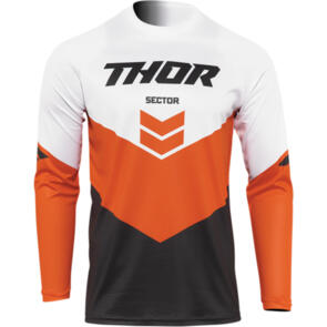 THOR 2022 SECTOR YOUTH CHEVRON JERSEY CHARCOAL RED ORANGE