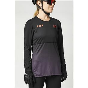 FOX RACING 2021 WOMENS FLEXAIR LS JERSEY [BLACK/PURPLE]