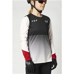 FOX RACING 2021 WOMENS FLEXAIR LS JERSEY [BLACK/PINK]