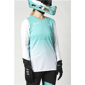FOX RACING 2021 WOMENS FLEXAIR LS JERSEY [TEAL]