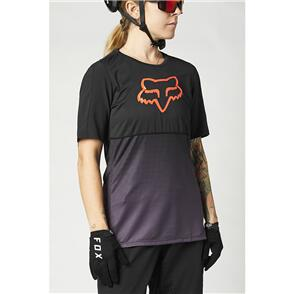 FOX RACING 2021 WOMENS FLEXAIR SS JERSEY [BLACK/PURPLE]