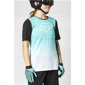 FOX RACING 2021 WOMENS FLEXAIR SS JERSEY [TEAL]