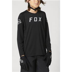FOX RACING 2021 YOUTH DEFEND LS JERSEY [BLACK]