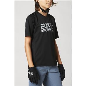FOX RACING 2021 YOUTH DEFEND SS JERSEY [BLACK]