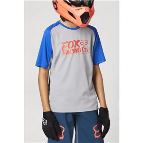 FOX RACING 2021 YOUTH DEFEND SS JERSEY [STEEL GREY]