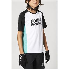 FOX RACING 2021 YOUTH DEFEND SS JERSEY [TEAL]