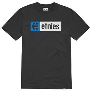 ETNIES NEW BOX SS TEE [BLACK/WHITE]