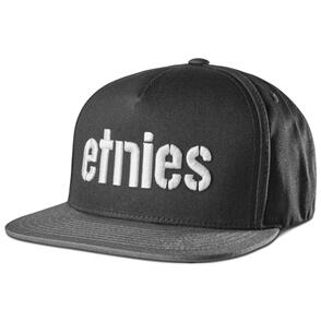 ETNIES CORP SNAPBACK [BLACK/GREY]
