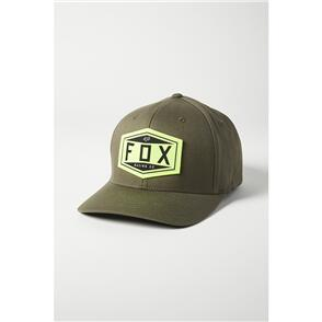 FOX RACING FOX EMBLEM FLEXFIT HAT [OLIVE GREEN]
