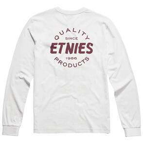 ETNIES QUALITY LS TEE [WHITE/BURGUNDY]