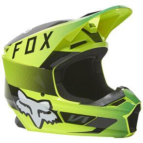 FOX RACING 2022 V1 RIDL HELMET ECE [FLO YELLOW]