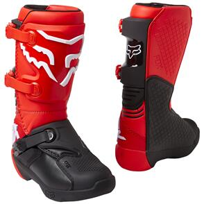 FOX RACING 2022 YOUTH COMP BOOTS [FLO RED]