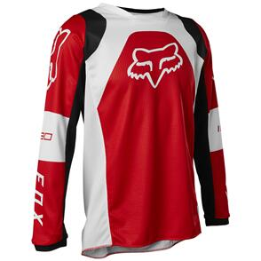 FOX RACING 2022 YOUTH 180 LUX JERSEY [FLO RED]