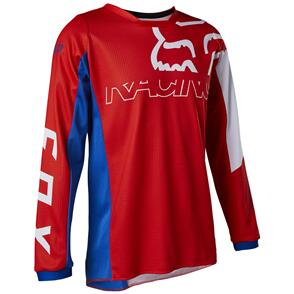 FOX RACING 2022 YOUTH 180 SKEW JRSEY WHITE/RED/BLUE